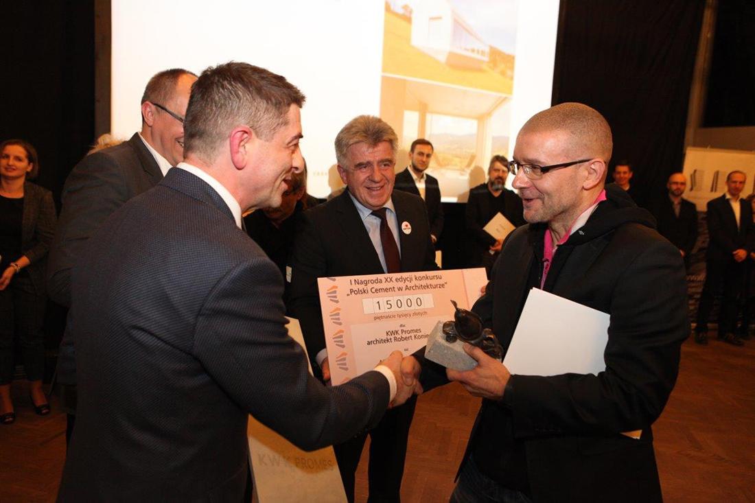 Pierwszą nagrodę w konkursie otrzymał arch. Robert Konieczny