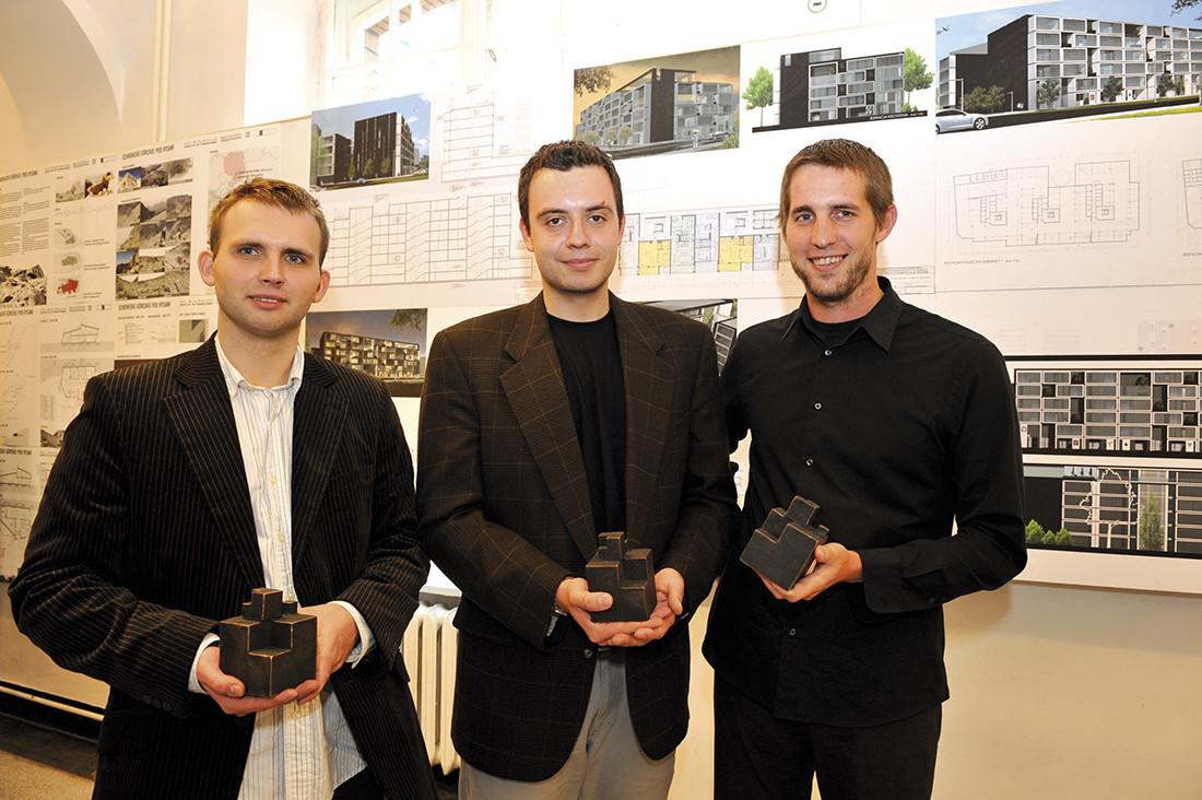 Zdobywcy trzech równorzędnych nagród: Maciej Brzostek, Dariusz Markowicz, Marek Woźniczka