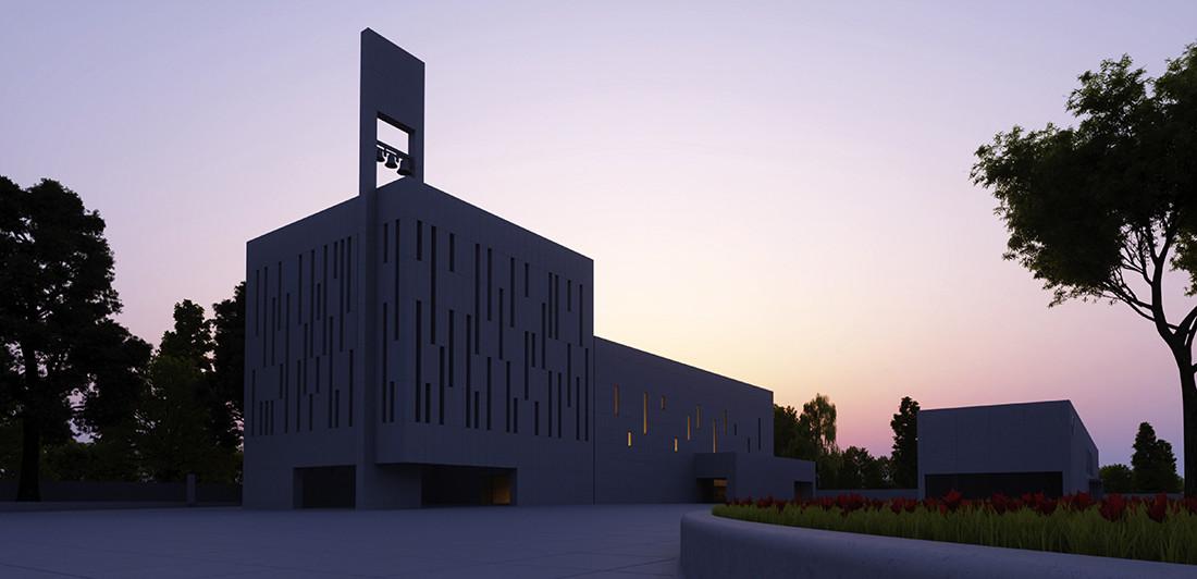 Aleksander Pusz, Koncepcja architektoniczna zespołu sakralnego w parafii Miłosierdzia Bożego w Gliwicach