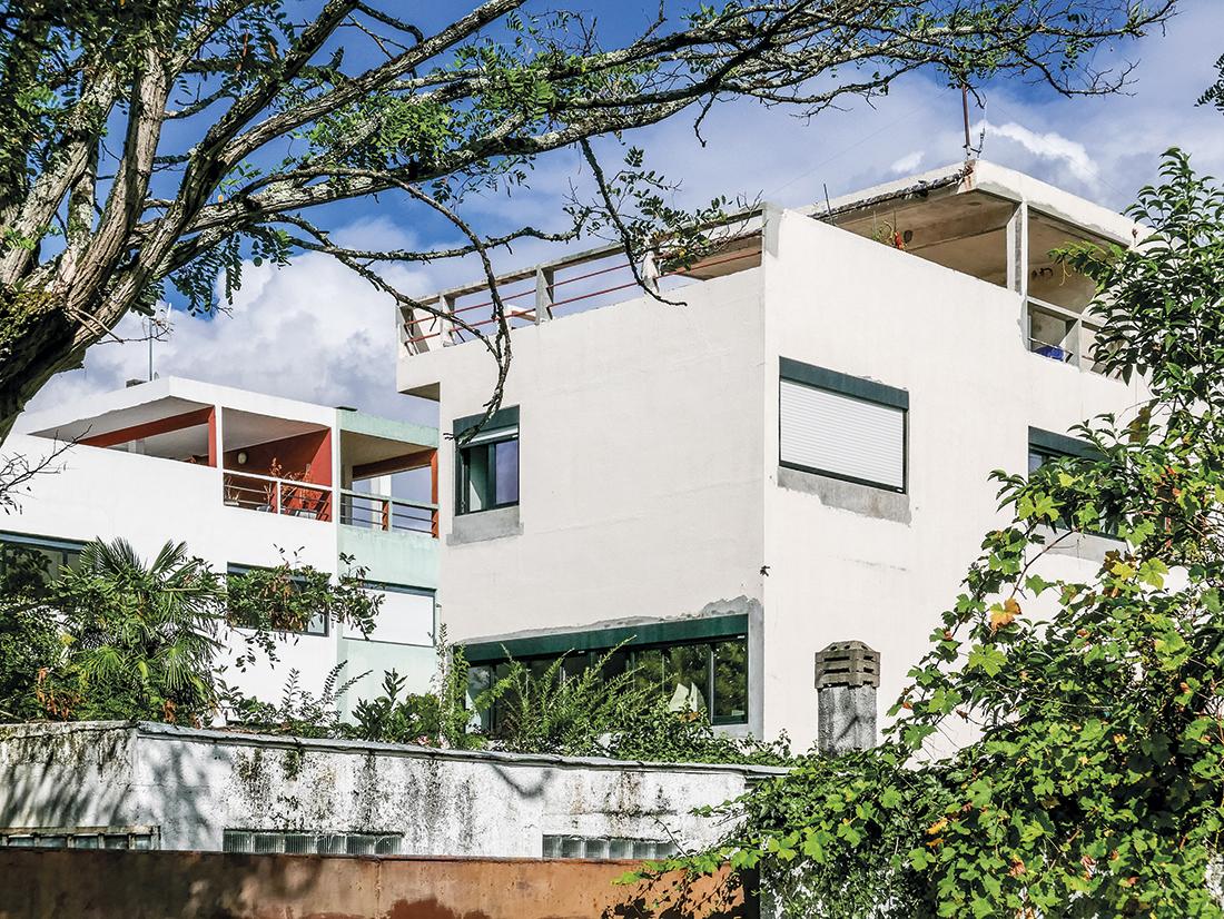 Budynki wieżowe w osiedlu w Pessac, proj. Le Corbusier 1924-26