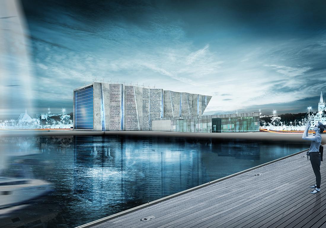 Dominik Rzeczkowski, Projekt koncepcyjny Muzeum Morskiego w Szczecinie, wyróżnienie