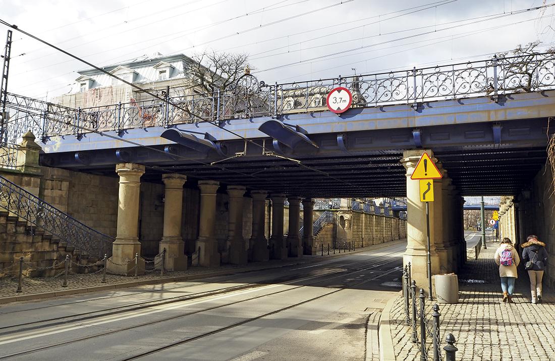 Ul. Lubicz, przepust drogowy pod torami kolejowymi