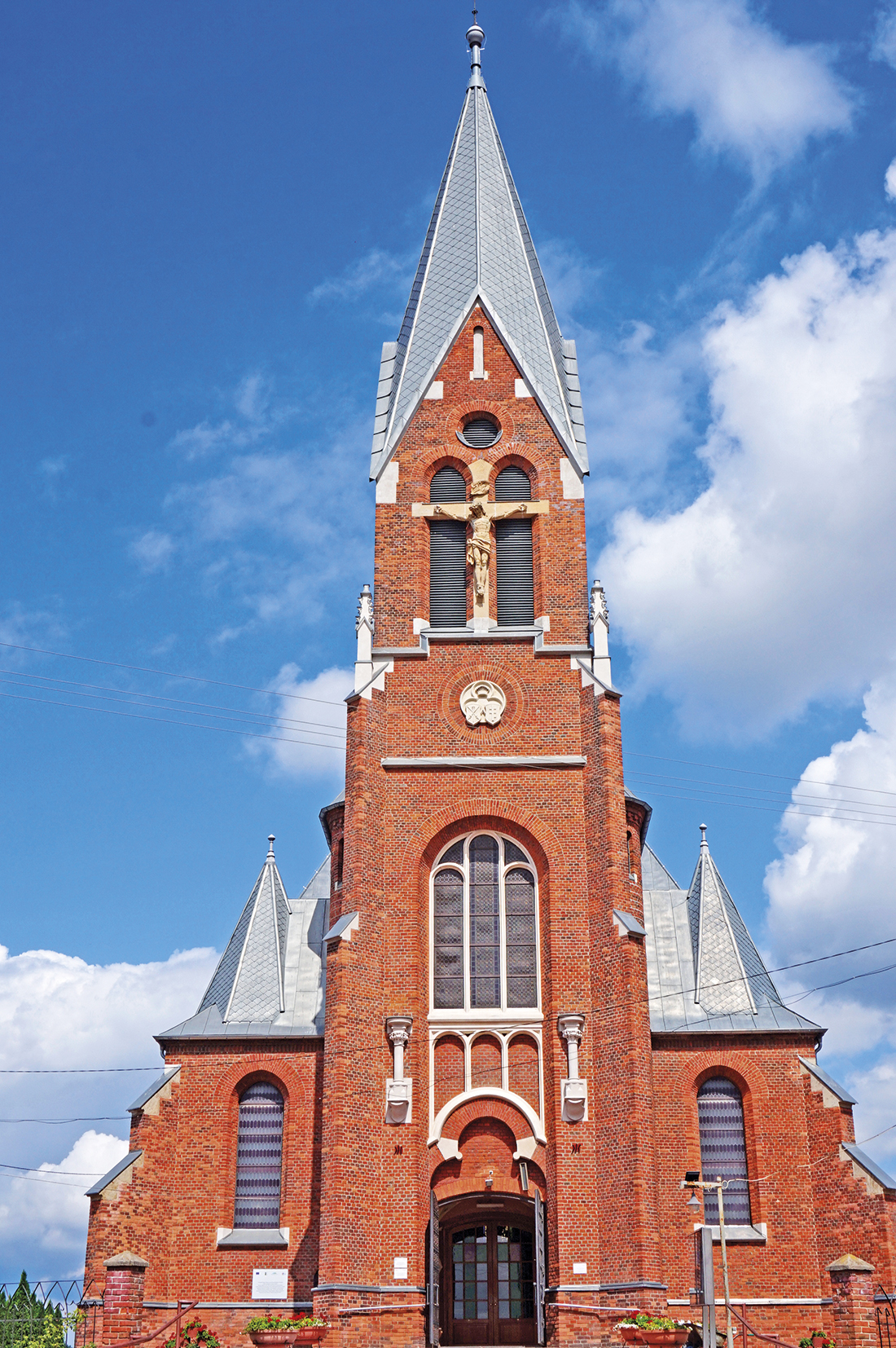 Kościół wLaszkach elewacja frontowa