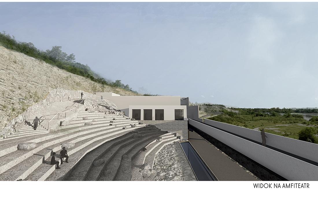 Nominacja: arch. ADA BOJARSKA. Tytuł pracy: Muzeum Wapienia w kamieniołomach w Kaliszanach-Kolonii