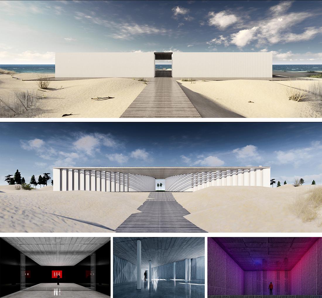 Nominacja: arch. KAROLINA NAWOJSKA. Tytuł pracy: Centrum Architektury Eksperymentalnej. Projekt architektoniczny budynku wystawowego