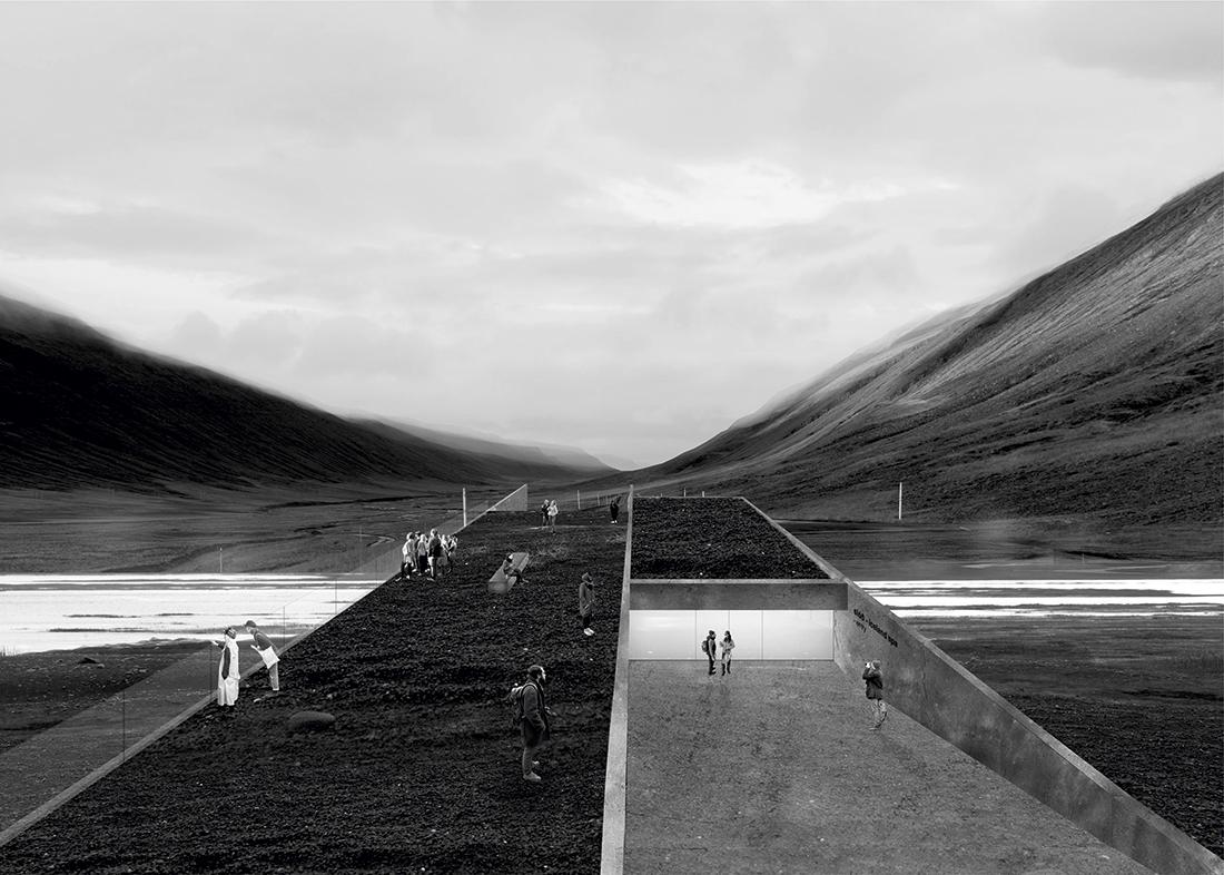 Nagroda: arch. PAWEŁ DANIELAK, Tytuł pracy: sloð – ośrodek spa na Islandii