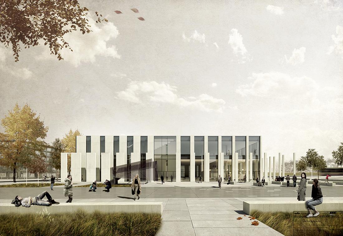 Nagroda: arch. BIANKA GAJDZIŃSKA (SWINDER). Tytuł pracy: Otwarte Centrum Architektury