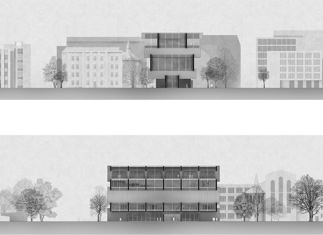 """Nominacja: arch. ZOFIA ROGULSKA. Tytuł pracy: Projektowanie konstrukcji jako sztuka tworzenia przestrzeni. Projekt domu o """"funkcji otwartej"""" na Powiślu w Warszawie"""