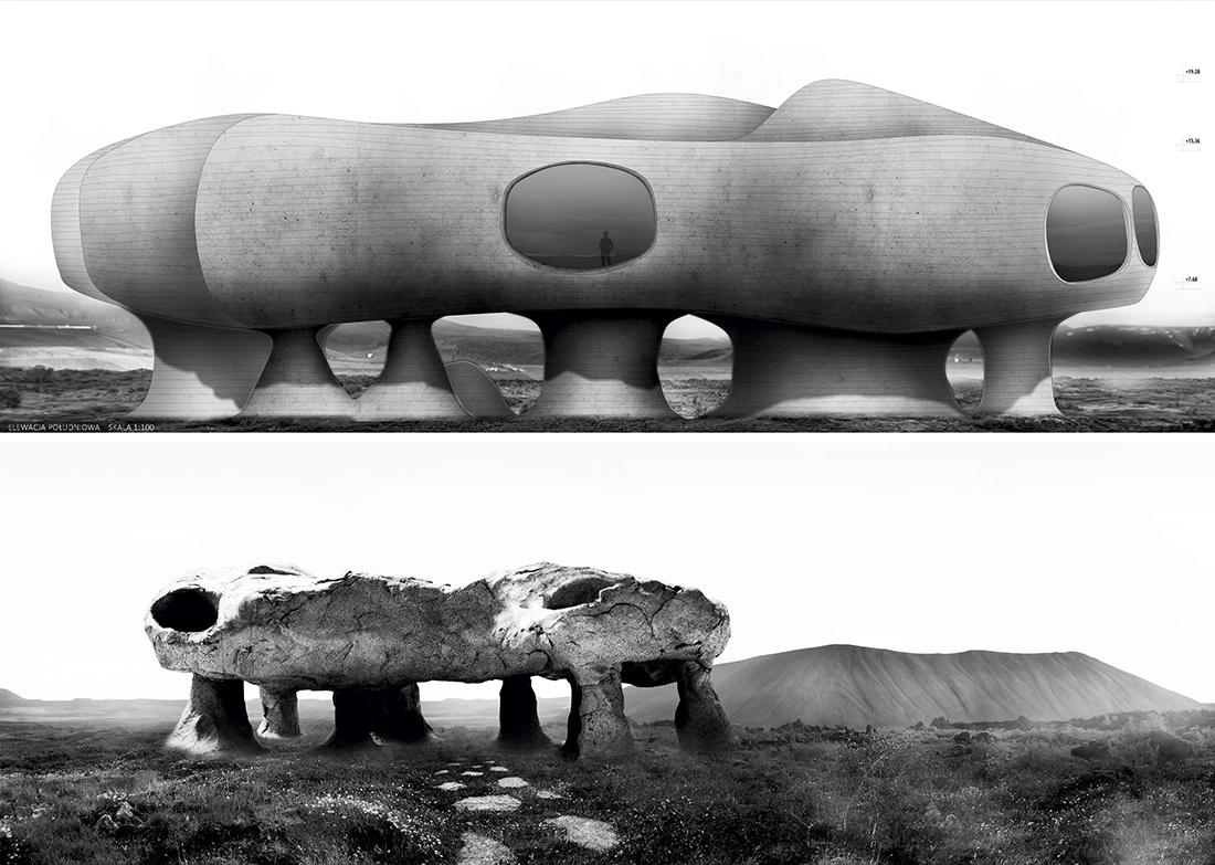 Nominacja: arch. HUBERT AUGUSTOWSKI. Tytuł pracy: Muzeum Wulkanów Islandii – wolnostojące obiekty krajobrazowe