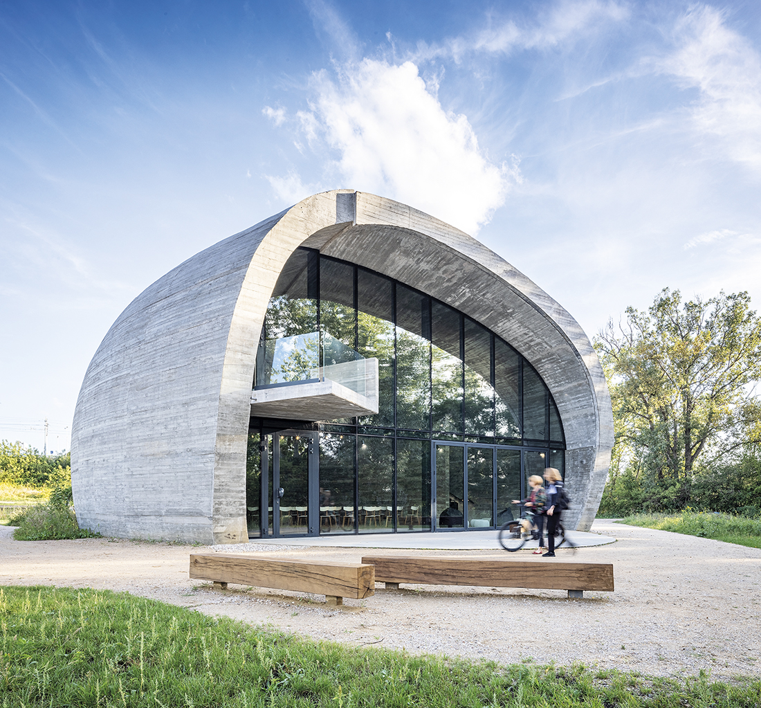 pawilon edukacyjny Kamień na Golędzinowie wWarszawie