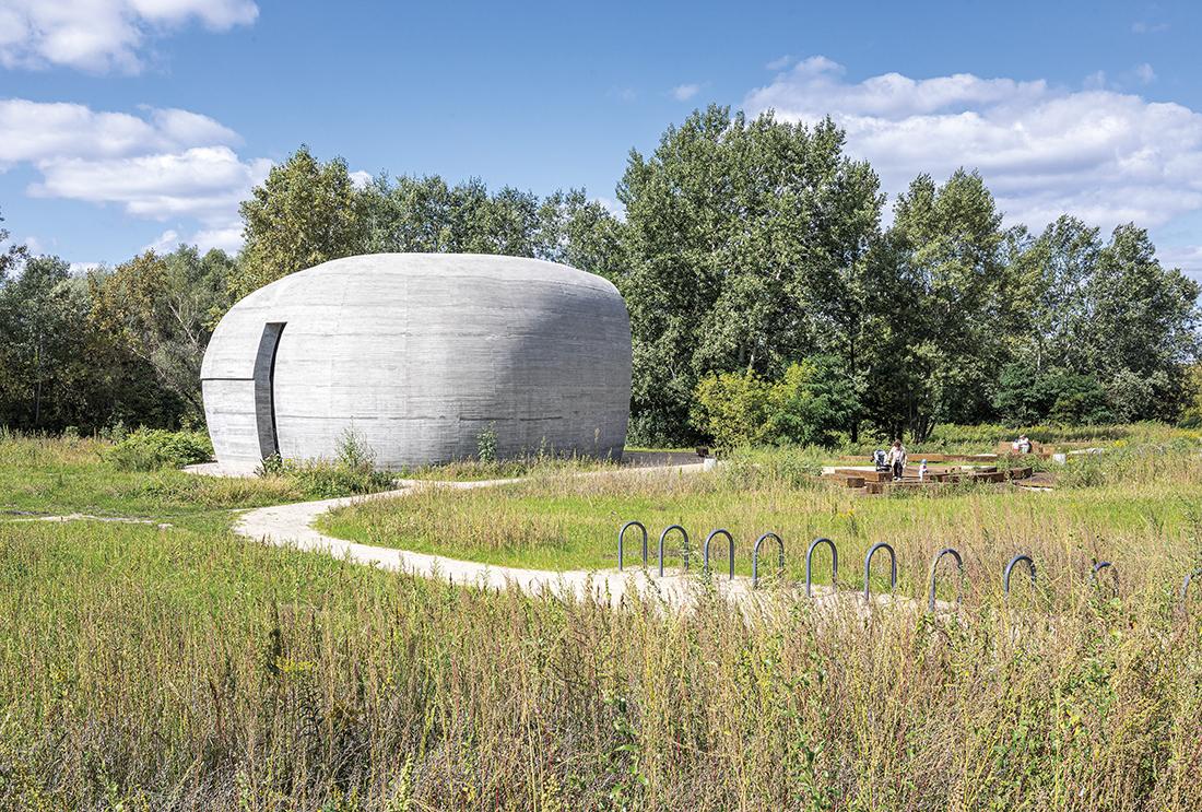 Pawilon edukacyjny Kamień nad Wisłą wWarszawie